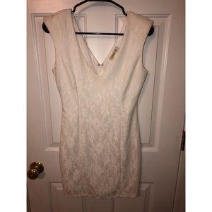 Beautiful white lace fitted dress